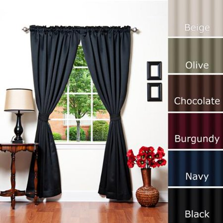 Curtains Ideas 120 inch length curtains : Aurora Home Solid Insulated Thermal Blackout 120-inch Curtain ...
