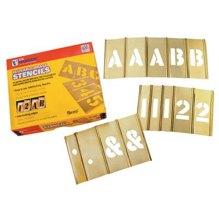 - Brass Stencil Letter & Number Sets, 2