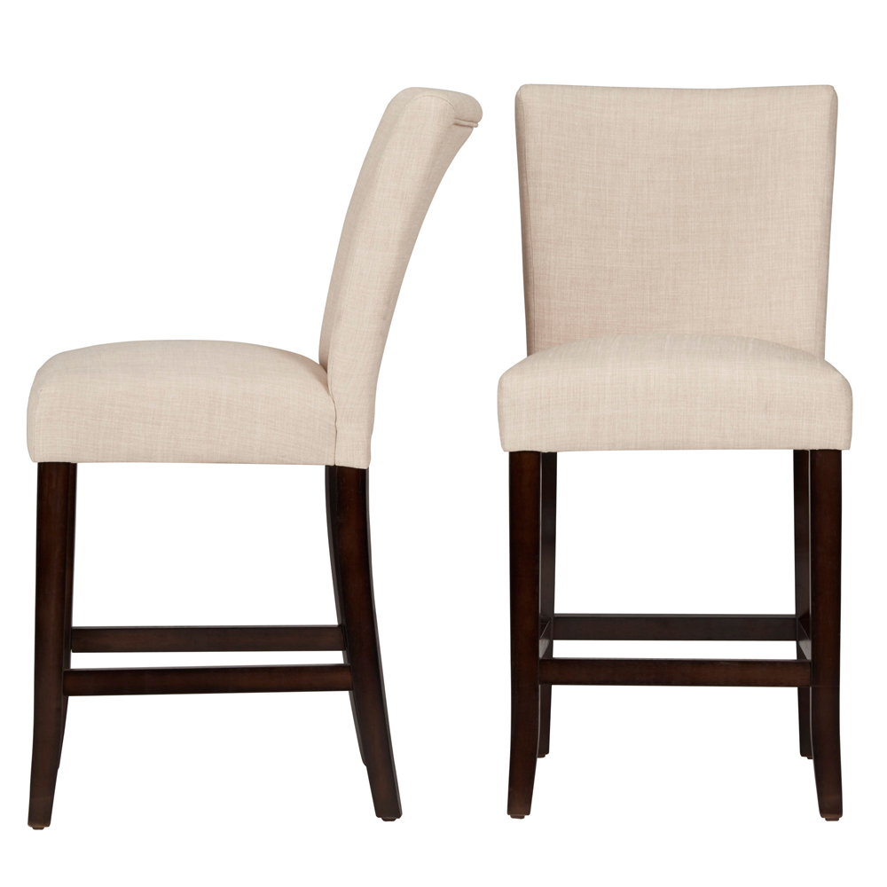 Chelsea Lane Counter Height Linen Dining Chairs, Set of 2