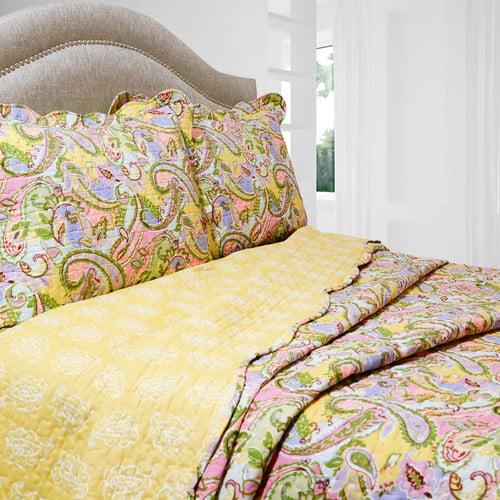 Pegasus Home Fashions Vintage Kiera Reversible Quilt Set