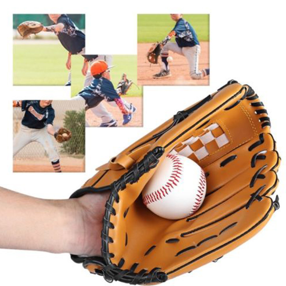 10.5inch Softball Left Hand Baseball Glove Mitts Training Practice Outdoor Sports by