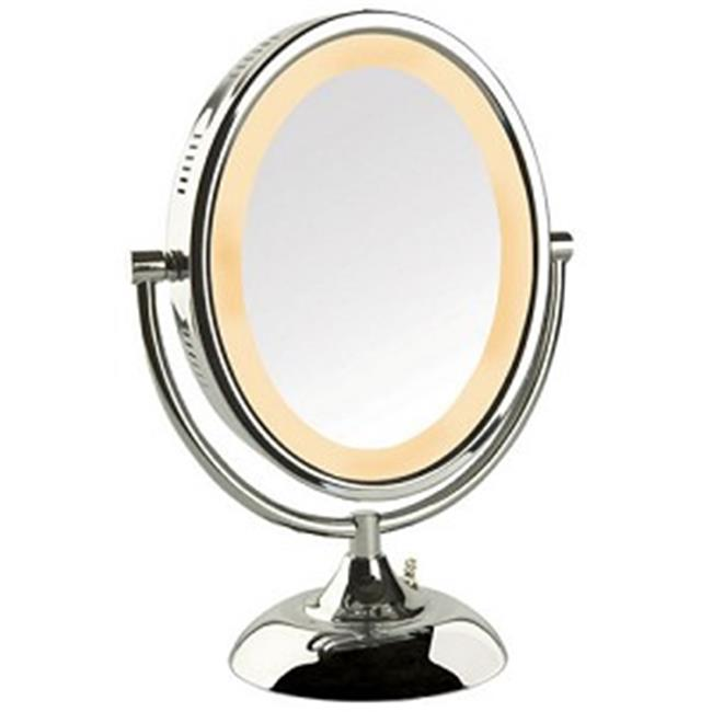 Jerdon Style HL958C 8 in. x 10 in. Oval, 8X,1X Lighted Wa...