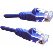 Professional Cable 14' Gigabit Ethernet UTP Cable with Boots, Purple