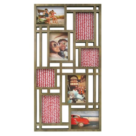 mainstays 8 opening wall collage frame gold