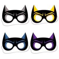 Card Stock Oversize Party Masks - Hero Masks - 4 per pack