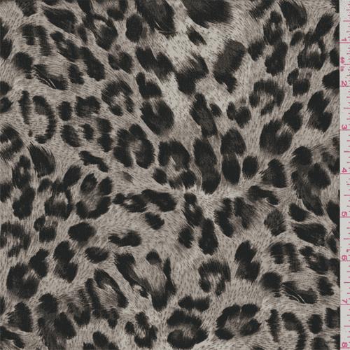 Soft Grey Cheetah Lawn, Fabric By the Yard