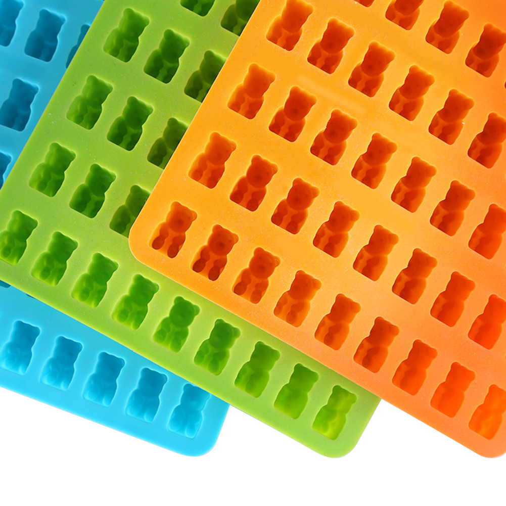 Silicone Gummy Bear Chocolate Mold Candy Maker Ice Tray Mould Cavity Jelly R3V5