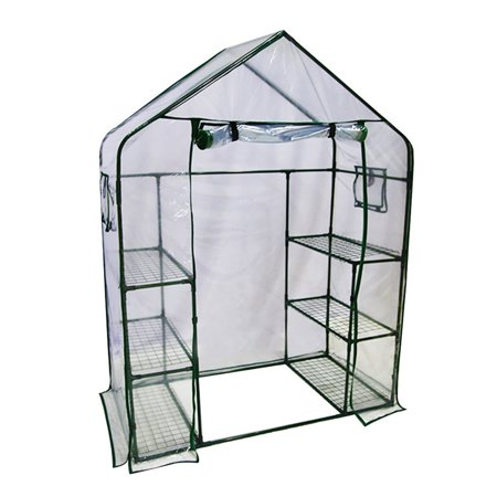 "Abba Patio Mini Walk-In Greenhouse 6 Shelves Stands 3 Tiers Racks Portable Garden Green House, 56""L x 29""W x 77""H"