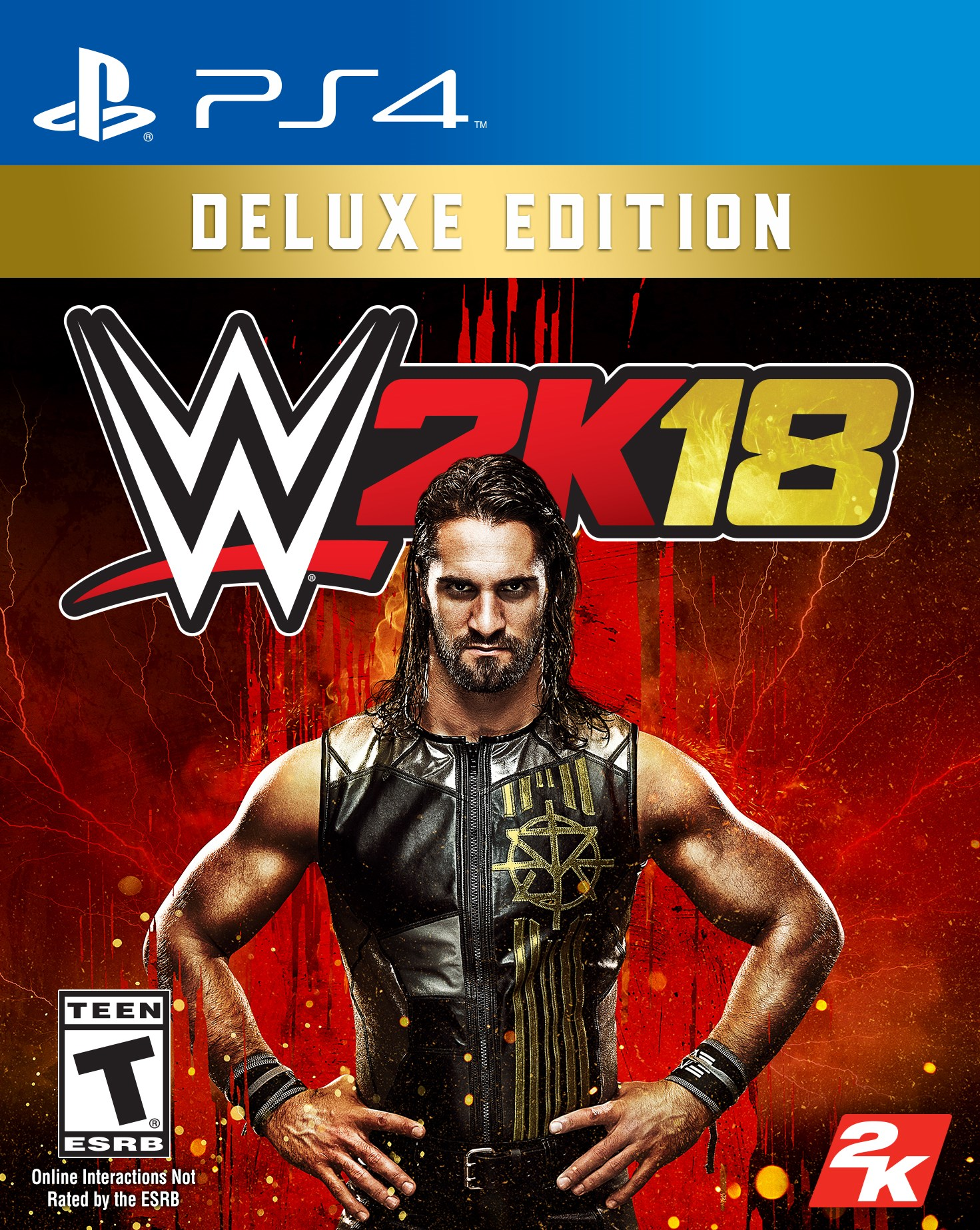 WWE 2K18 Deluxe Edition, 2K, PlayStation 4, 710425570056 by Visual Concepts