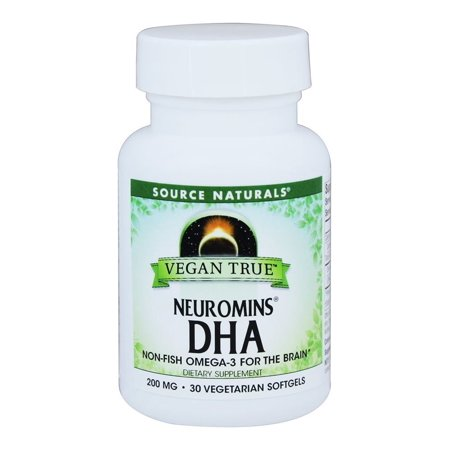 Source Naturals - Vegan True Neuromins DHA 200 mg. - 30 Vegetarian (Source Of Omega 3 In Vegetarian Diet)
