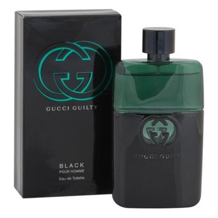 Gucci Black Stripes - Gucci MGUCCIGUILTYBLACK3.0 3.0 oz Mens Gucci Guilty Black Eau De Toilette Spray