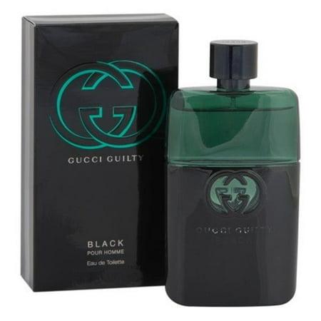 Gucci MGUCCIGUILTYBLACK3.0 3.0 oz Mens Gucci Guilty Black Eau De Toilette Spray
