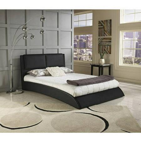 Premier Melbourne Twin Upholstered Platform Bed Black