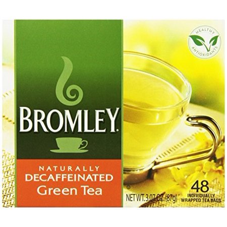 (3 Boxes) Bromley Green Tea Decaf, 48 Count Box
