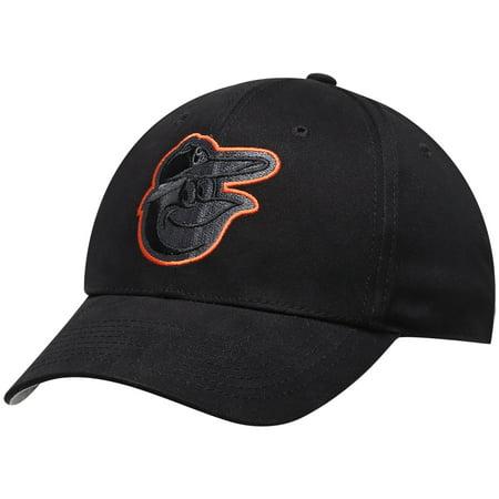 Men's Black Baltimore Orioles Basic Logo Adjustable Hat - OSFA