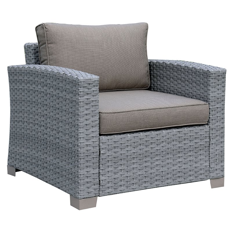 Furniture of America Condor Patio Chair in Gray