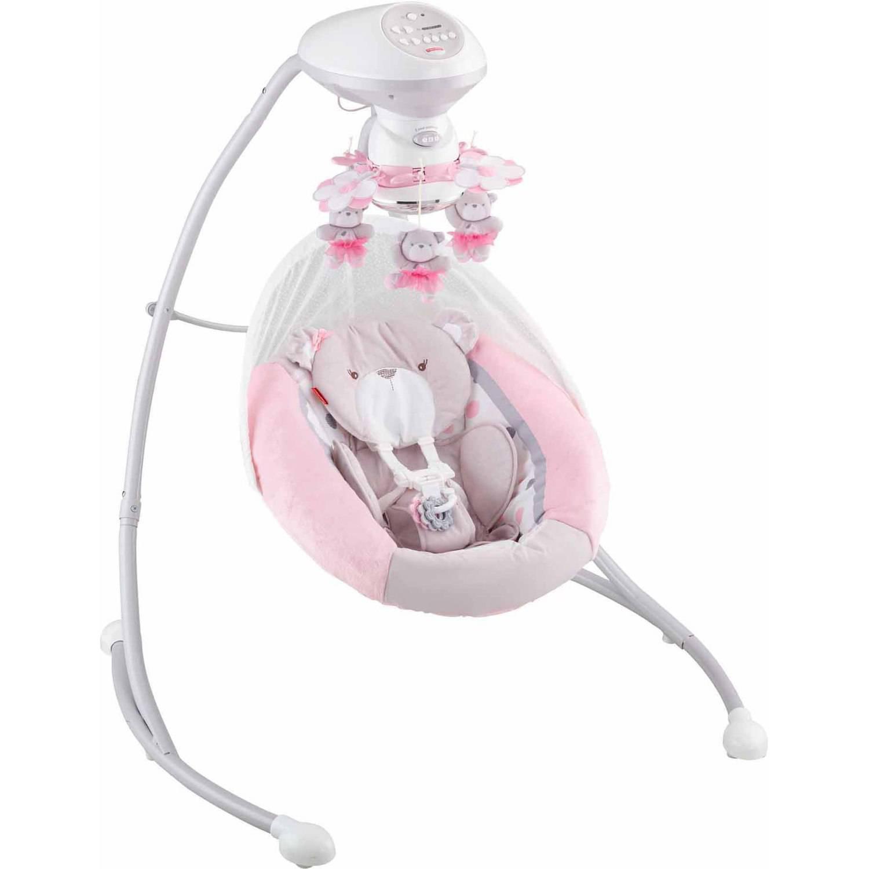 Fisher-Price My Little Snugabear Cradle 'n Swing, Pink