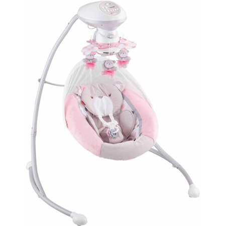 Fisher Price My Little Snugabear Cradle N Swing Pink Walmart
