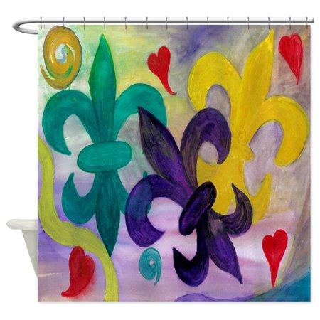 CafePress - Mardi Gras Fleur De Lis - Unique Cloth Shower Curtain