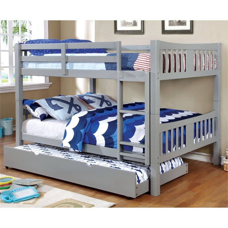 Charmant ACME Limbra Queen Over Queen Metal Bunk Bed, Black Sand   Walmart.com