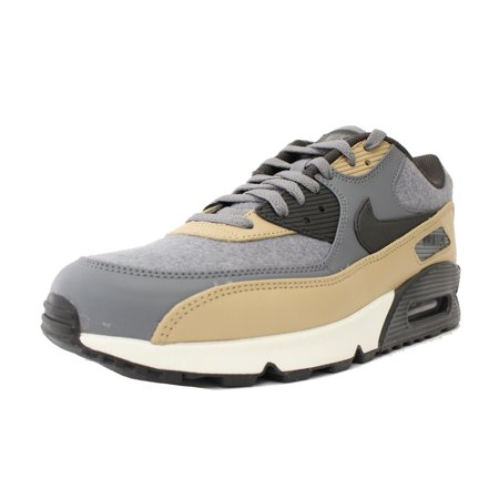 the latest b5dca 6902e Nike - NIKE AIR MAX 90 PREMIUM WOOL SZ 8.5 COOL GREY MUSHROOM PEWTER 700155  010 - Walmart.com