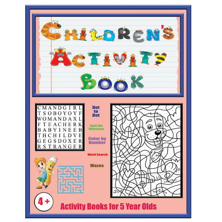 Activity Books for 5 Year Olds : An Activity Book with 120 Puzzles, Exercises and Challenges for Kids Aged 4 to 6 - Halloween Activities For Kids At Home