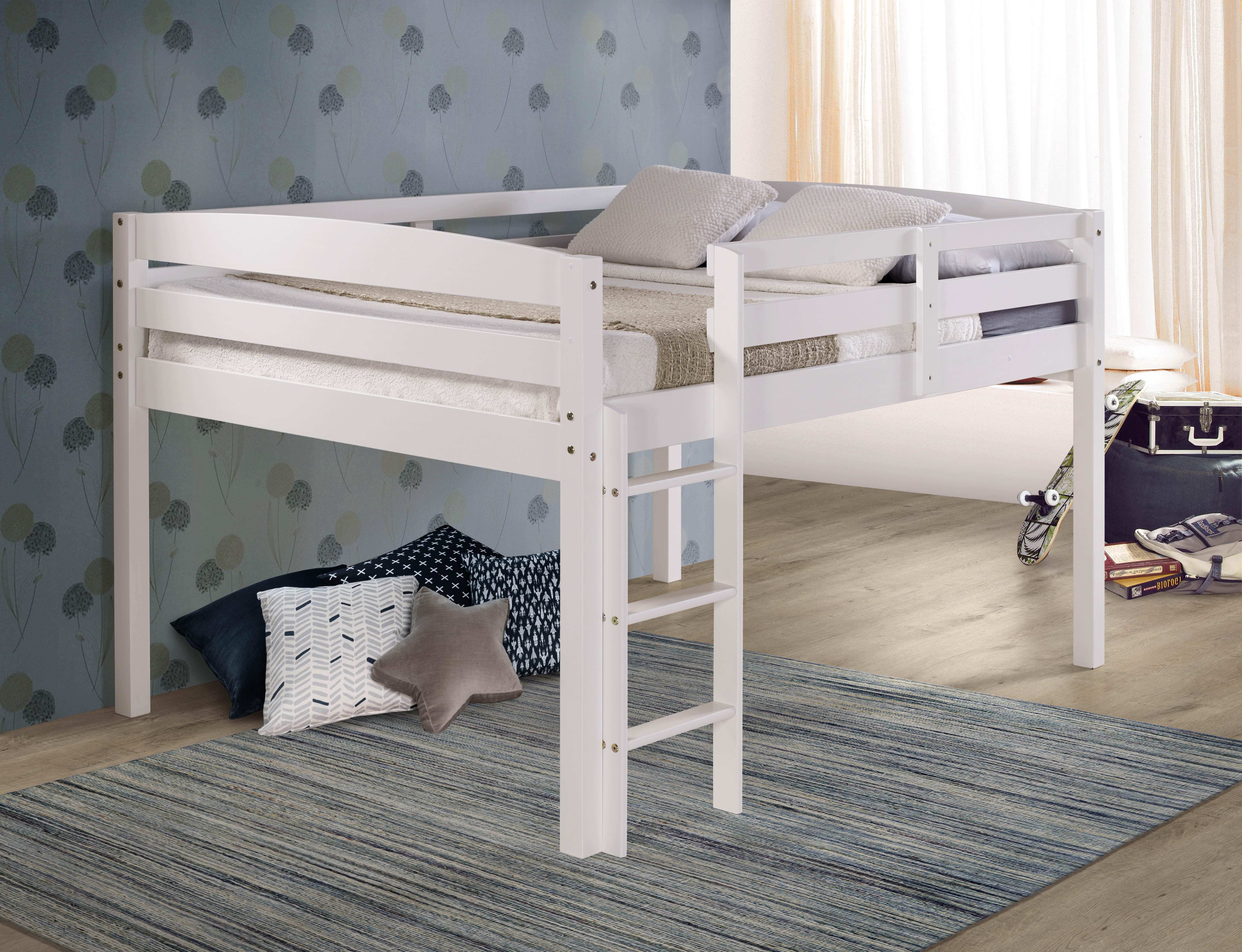 Concord Full Size Junior Loft Bed White Finish Walmart Com Walmart Com
