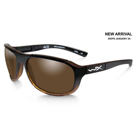 (Wiley X ACACE04 WX Ace Sunglasses w/Tortoise Frame & Polarized Bronze Lens)