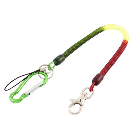 Outdoor Carabiner Hook Spring Stretchy Coil Key Chain Cord w Lobster Clasp - image 2 of 2