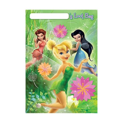 Tinkerbell Lootbags (8 Pack) - Party Supplies