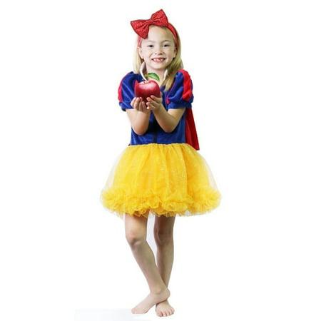Calla Collection Girls Gold Blue Puff Sleeve Cape Halloween Dress