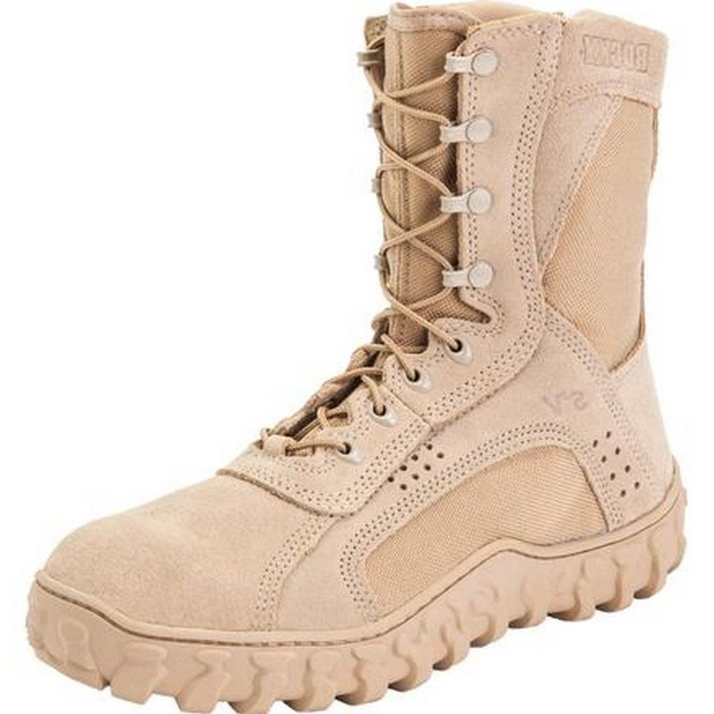 "Rocky Tactical Boots Mens 8 1/2"" S2V Special Opps Tan FQ0000101"