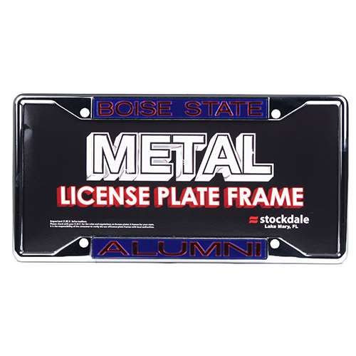 Boise State Broncos Metal Alumni Inlaid Acrylic License Plate Frame -Alt