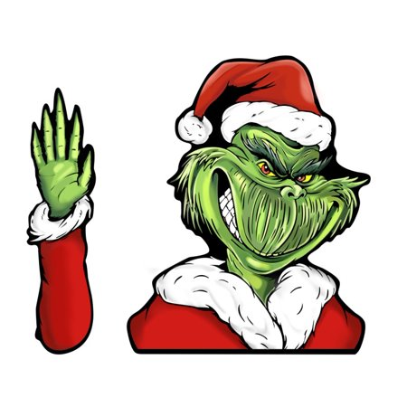 Christmas Grinch Santa Claus Car Wiper Sticker Rear Windshield Window Decals Xmas