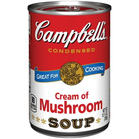 Campbells Condensed Soup, Cream of Mushroom, 10.5 Oz (Pack of 3)