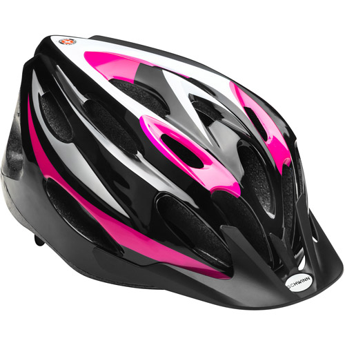 Schwinn Merge Microshell Girls' Bicycle Helmet, Pink/Black, Youth
