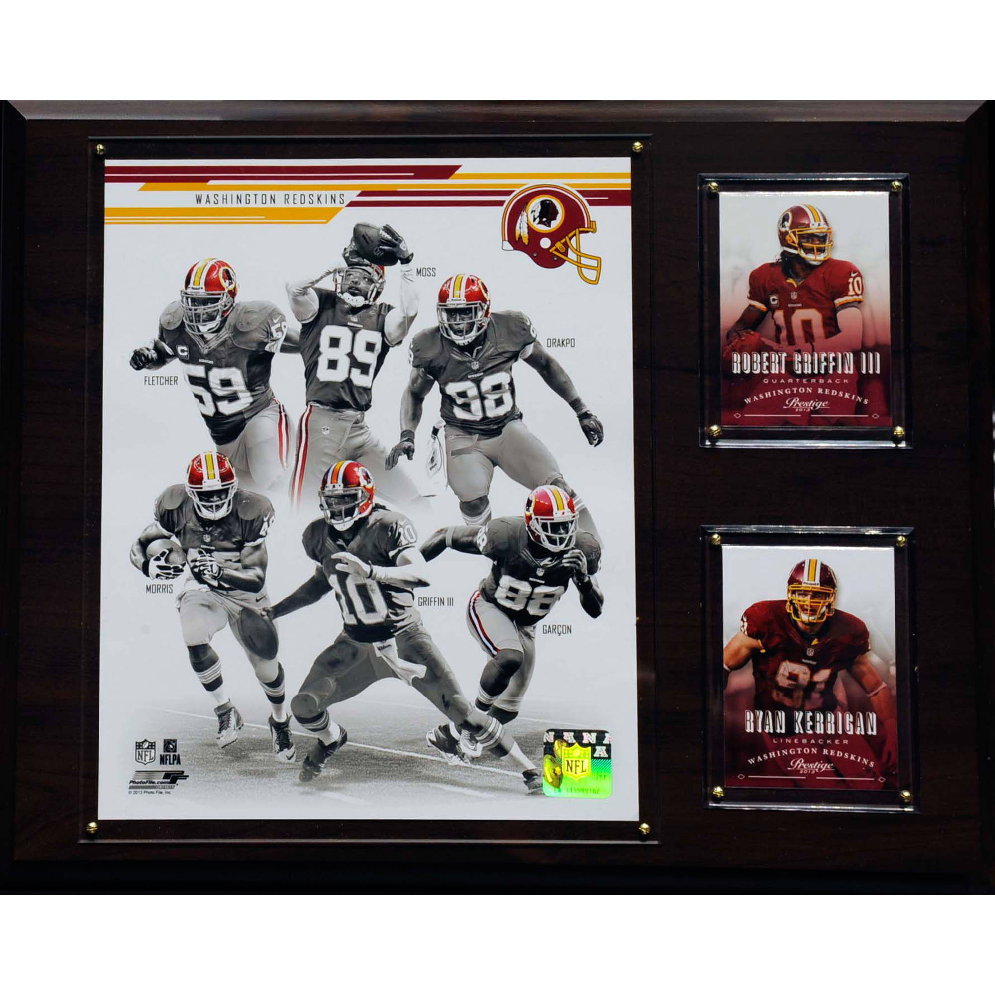 C&I Collectables NFL 12x15 Washington Redskins 2013 Team Plaque