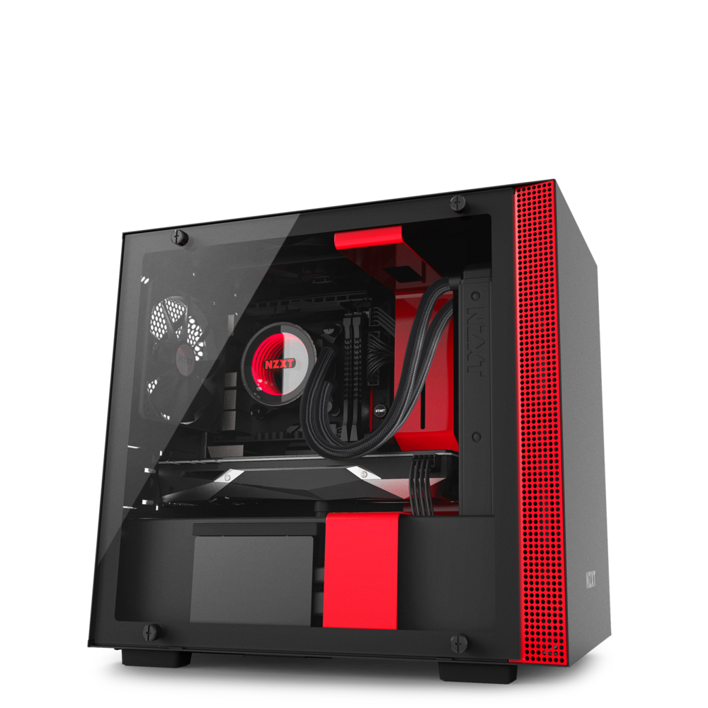 NZXT H200i Mini-ITX Computer Case Black + Red