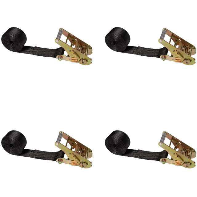 "2"" x 10' Black Endless Ratchet Strap w/ Short Standard Ratchet - 4 P"