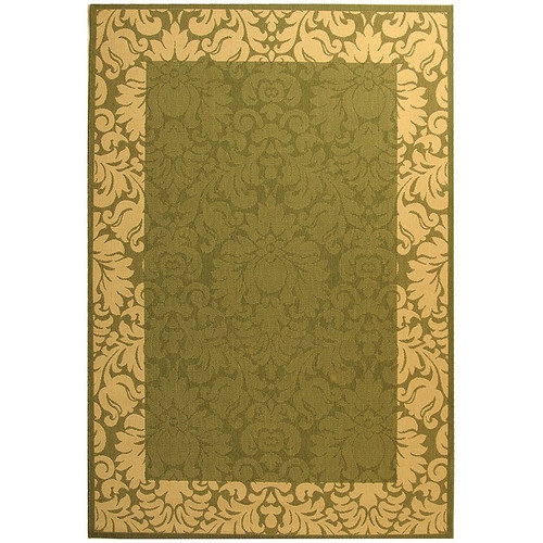 Safavieh Courtyard Olive / Natural Outdoor Area Rug