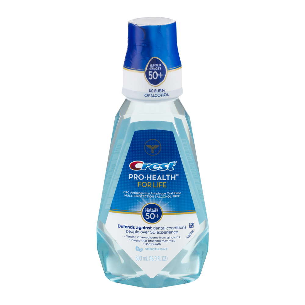 Crest Pro-Health For Life Oral Rinse Smooth Mint, 16.9 FL OZ