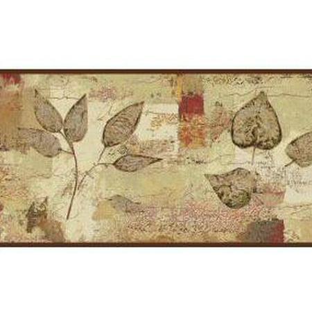 879142 Botanical Leaves Pressed Wallpaper Border BP8347bd](Leaf Boarder)