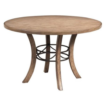 Hillsdale Charleston Round Desert Tan Wood Dining Table