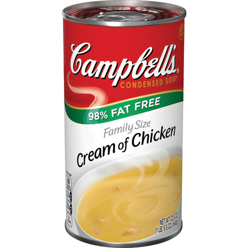 Campbell's Condensed Family Size 98% Fat Free Cream of Chicken Soup, 22.6 oz.