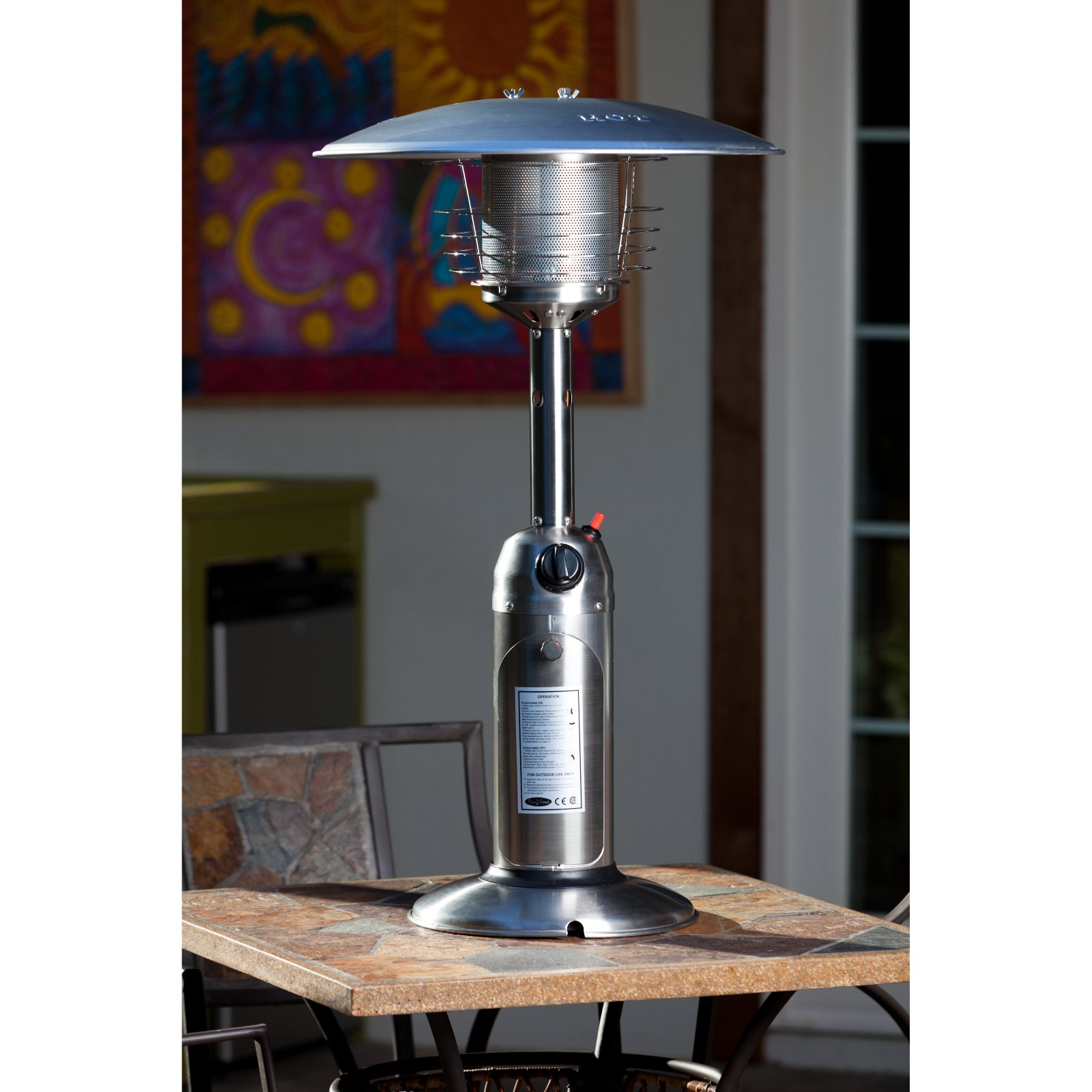 Fire Sense Table Top Patio Heater Walmart Com