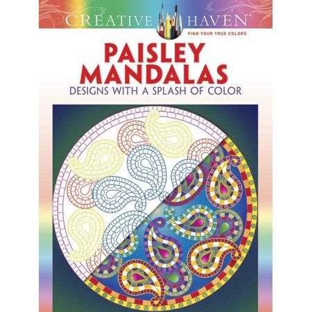 Paisley Mandalas Adult Coloring Book - Mandala Coloring Sheet
