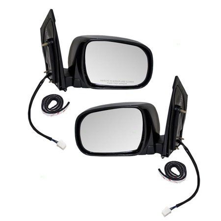 Pair Set Power Side View Mirrors Heated Replacement for Toyota Sienna 87940-AE020 87910-AE020, Brand new aftermarket replacement By AUTOANDART Aftermarket Side View Mirrors
