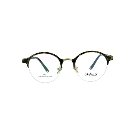 Optical Quality Round Half Horn Rim Luxury Circle Lens Eyeglasses Frame Tortoise (Ray-ban Brille Half Frame)