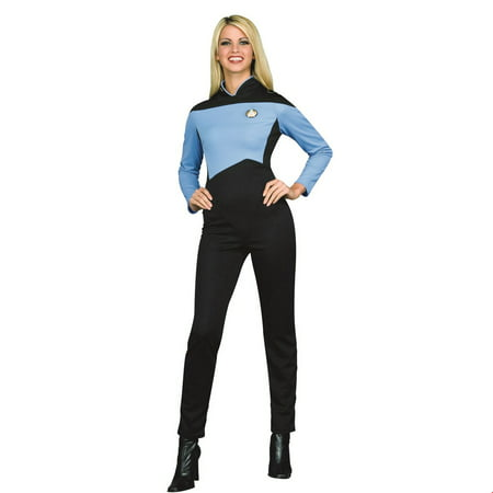 Star Trek Womens Deluxe Science Uniform Halloween Costume](Star Trek Halloween Costumes Diy)