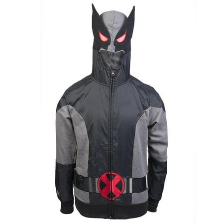 Wolverine - Gray Wolf Costume Zip Hoodie](Grey Wolf Tail)